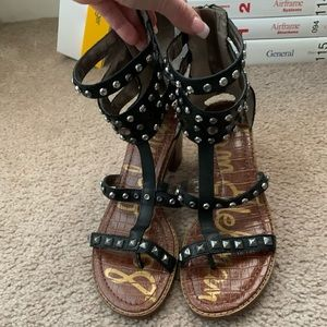 Sam Edelman black stud sandals